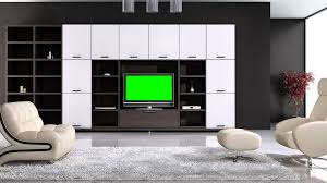 Tv In Living Room Green Screen Free Stock Footage