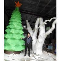 Quality Customize Size Fiberglass Green Large Christmas Tree As Decoration Statue In Garden Shop Mall