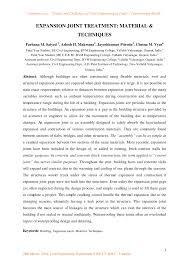 expansion joint treatment material u0026 techniques pdf download