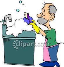Men Clipart Washing Dish 6