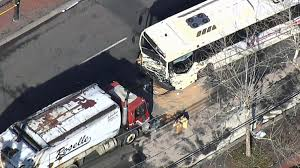 NJ Transit Bus Driver Killed After Head-on Crash With Garbage Truck ... Union Firefighters Extricate Driver From Rt 78 Truck Accident 11815 Nj Turnpike I95 Crash Black Ice Trailer Flip Youtube Chesterfield Animation 3 People Killed In Involving Ctortrailer On I280 East Garbage Truck Crashed Into A Wooded Area Of Goffle Brook Park In Man Dies With New Jersey Police Nbc Crashes After Losing Brakes On Hill Hawthorne 1 Dead Overturned Flyengulfed Dump Shuts Down Two 43 Injured School Bus Torn Apart Crash Tractor Trailer Overturns Route 55 Harrison Twp Gloucester 322 Reopens Headon Logan 6abccom