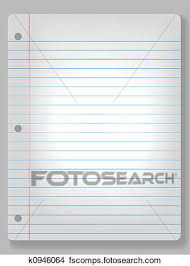 Deluxe Notebook Paper Clipart Drawings Spotlight Notebook Paper
