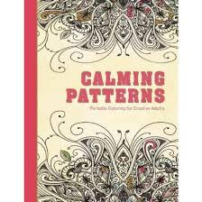 Calming Patterns Adult Coloring Book Portable For Creative Adults Hardcover Bonnier Fakta