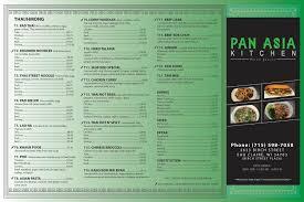 Pan Asia Kitchen Menu Menu for Pan Asia Kitchen Eau Claire Eau