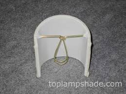 egg shell clip on chandelier and wall sconce half l shade 1255
