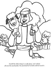 Learn Bible Stories With The Lost Sheep Coloring Page