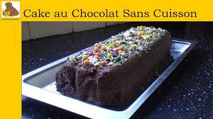recette de cuisine cake le cake au chocolat sans cuisson recette rapide et facile hd