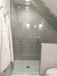 Lighting For Sloped Ceilings by Subway Tile On Slanted Wall Google Search Bathroom Pinterest