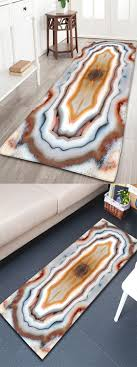 European Style 3D Marble Printed Flannel Bath Mat