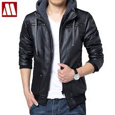 leather jacket men hoodie promotion shop for promotional leather