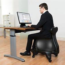 Stability Ball Desk Chair by Ball Chair Posture Office Exercise Fitness Core Health Black Back