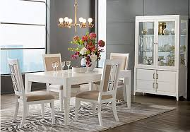 shop for a cindy crawford home ocean grove white 5 pc dining room