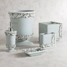 Mercury Glass Bathroom Accessories by Bathroom Decor U0026 Accessories Pier 1 Imports