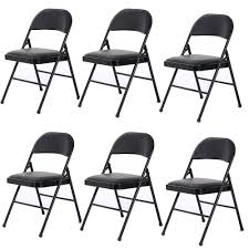 Details About 6 Pack Folding Chairs Fabric Upholstered Padded Seat Metal  Frame Furniture Black Adirondack Folding Chair Hans Wegner Midcentury Danish Modern Rope Style Bolero Grey Pavement Steel Chairs Pack Of 2 English Black Lacquer And Parcelgilt Campaign Amazoncom Fashion Outdoor Garden Recliner Classic Series Resin 1000 Lb Capacity Wedding Fishing Folding Chair Icon Black Monochrome Style Drive Lweight Cane With Sling Seat Buffalo Study With Writing Pad Buy Antique Wood Chairfolding Boardfolding Product On Samsonite Hire