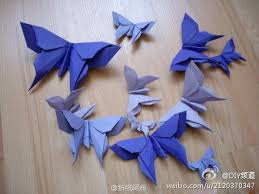 Butterflies Crafts Diy Origami Pinwheels Paper Artwork Folding