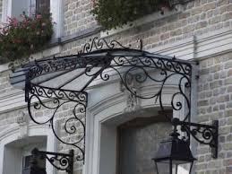marquise auvent en fer forgé marquise wrought iron canopy