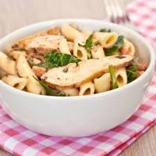 pates au blanc de poulet recette salade de pâtes au poulet et au basilic