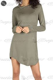 womens ladies long sleeves hooded curved hem baggy oversized tunic