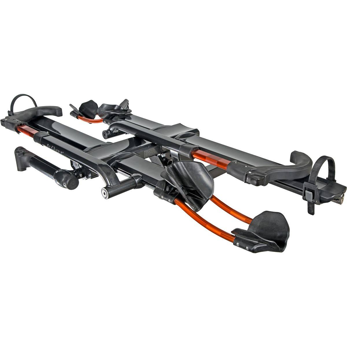 Kuat NV 2.0 2-Bike Tray Hitch Rack - Metallic Gray & Orange
