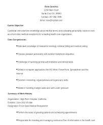 Medical Office Receptionist Resume