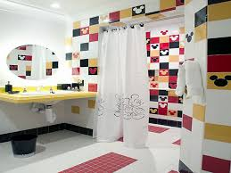 Mickey Mouse Bathroom Decor Kmart by Bathroom Fascinating Mirror And Charming Curtain Plus Awesome
