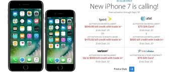 Sams Club ATT iPhone 7 FREE Trade In required after $650 bill