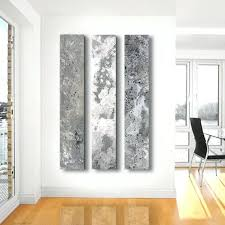 Copper Wall Art Home Decor Metallic Abstract Paintings 3 Panel Custom
