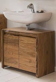 badezimmer waschbecken unterschrank akazie massiv holz live