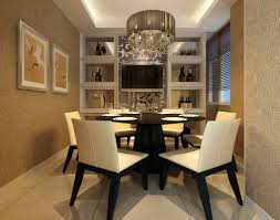 Modern Centerpieces For Dining Room Table by Luxury Dining Room Design With Modern Pendant Light Above Round