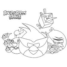 Angry Birds Space Coloring Sheet Printable