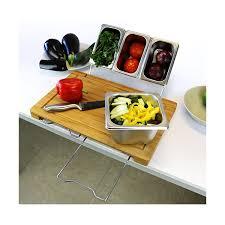 planche cuisine planche à découper et ses 5 bacs intégrés vivre mieux