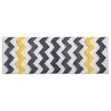 Yellow Gray Bathroom Rugs by Interdesign 53 X 152 Cm Microfiber Chevron Rug Grey Yellow