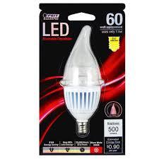 feit led dimmable chandelier candelabra base light bulb at menards