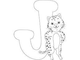 Free Printable Letter Coloring Pages For Kids J Jaguar