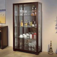 Shop Beverly Hills Furniture Wenge Curio Cabinet at Lowes