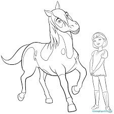 Spirit Riding Free Coloring Pages For Kids With