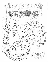 Terrific Printable Valentines Day Coloring Pages With Free Valentine And 6 Excellent Hello Kitty
