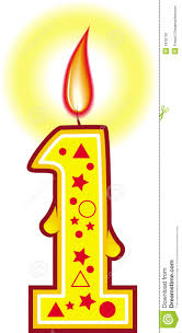 Number 1 candle clipart 1435