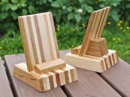 Wooden Phone Stand Smartphone IPhone By Oiwion On Etsy