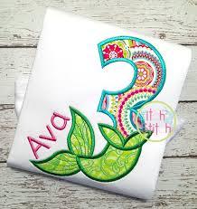 Mermaid Number Set Applique