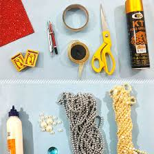 Picture Of Things Needed To Make A DIY Wall Decor