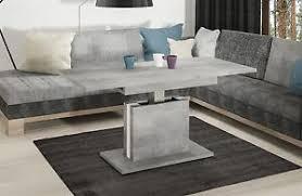 details zu couchtisch ausziehbar höhenverstellbar beton tisch funktionstisch wohnzimmer