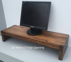 TV Riser Stand In Modern Rustic Style Solid Wood A Variety Of Finish Options By Ideastohome