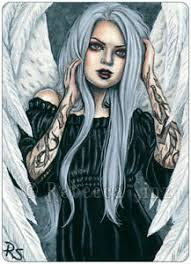 Image Is Loading ACEO LE PRINTS Gothic Fantasy Art Angel Silver