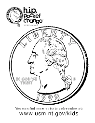 Penny Coin Coloring Page Throughout Pages