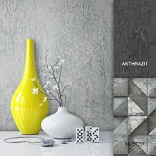steintapete vliestapete grau edel uni schöne edle tapete im beton optik design moderne optik für wohnzimmer schlafzimmer oder küche inklusive der