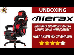 Video Gaming Chair With Footrest by Unboxing Merax High Back Ergonomic Gaming Chair With Footrest