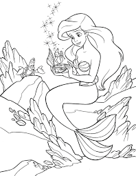 Mermaid Free Coloring Pages Disney Princess Ariel Printable Colouring Full Size