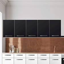 klebefolie für die küche wandschrank 200 cm breite schwarz
