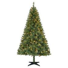 7ft Artificial Christmas Tree With Lights by Home Accents Holiday Pre Lit Christmas Trees Artificial